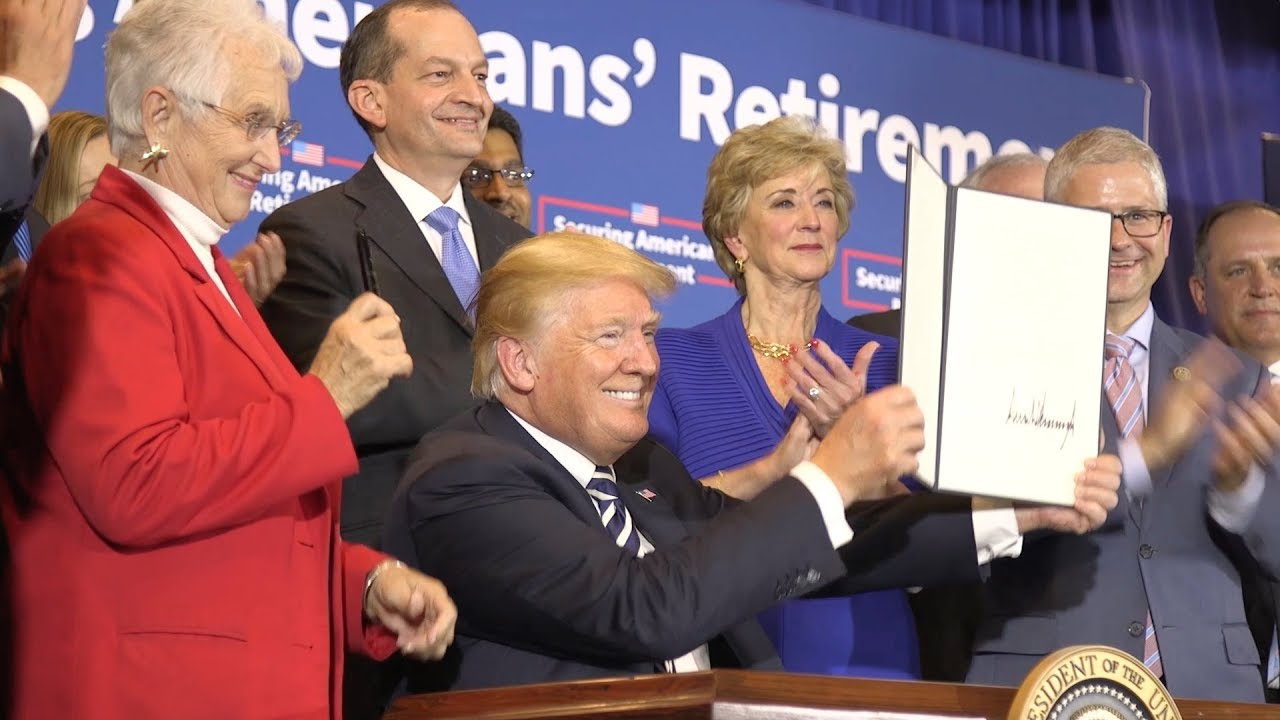 Hasil gambar untuk Trump is Strengthening U.S. Retirement Security