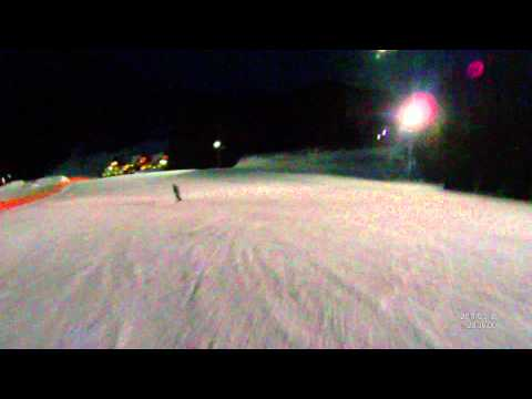 Night boarding at Mount Norquay, Canada