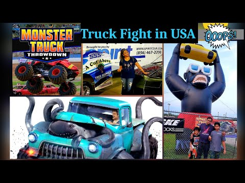 Monster Trucks! Bridgeport Speedway! New Jersey! Monster trucks Throwdown!Trucks Show!