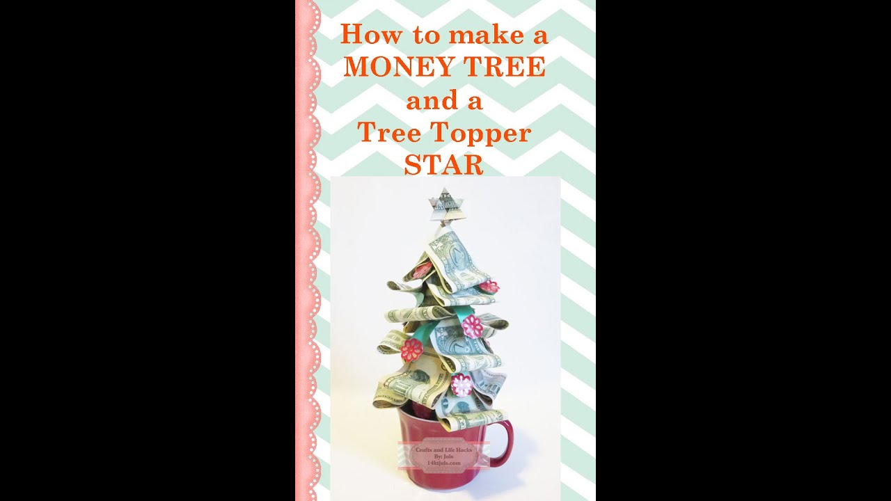 Money Origami Tree with Quarters and STAR Folding Instruction - Money Origami Tree With Quarters And STAR Folding Instruction - YouTube