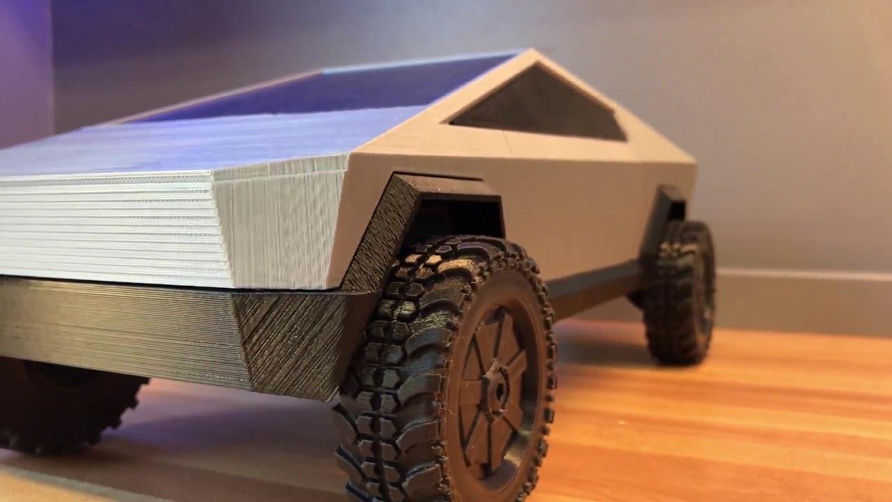 3D Printed Tesla Cybertruck - YouTube
