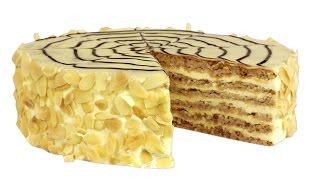 """Торт """"Эстерхази"""". Знаменитый торт с миндальными коржами и нежным кремом."""