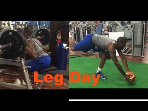 Leg day Workout| Vegan Basketball Player