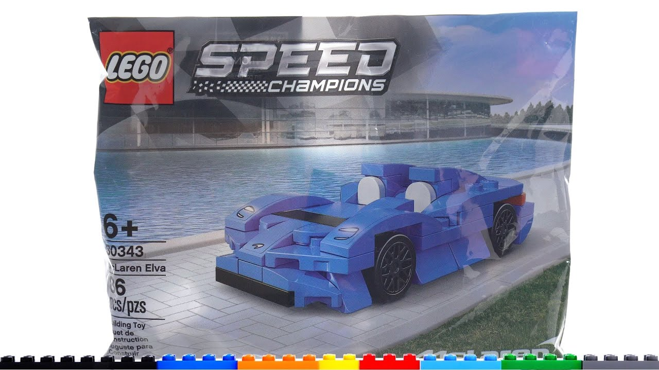 LEGO Speed Champions polybag (mini) McLaren Elva 30343 review! Too good for its own good