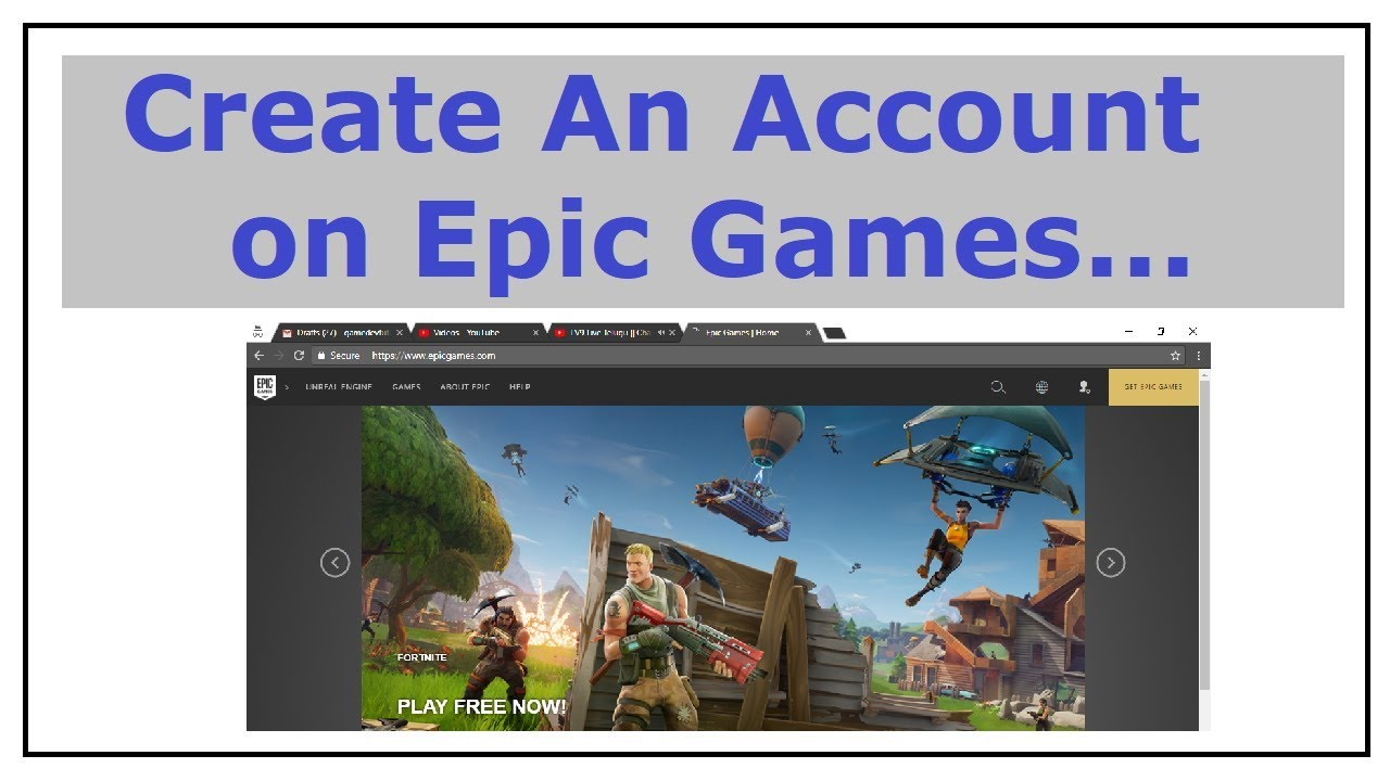 How to Create a Account on Epic Games 2018 - YouTube