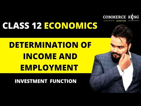 🔴 Investment Function | Aggregate demand and related concepts class 12 | macro economics | video 24