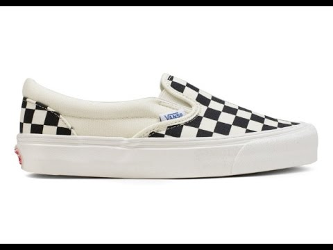 vans og era lx checkerboard slip on