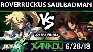 F@X 256 GGXRD2 - RoverRuckus (Ky) Vs. saulBadman (Sol) - Guilty Gear XRD Rev 2 Losers Finals
