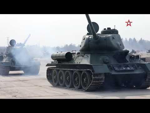 Тридцать легендарных  танков Т-34 после капитального ремонта прибыли в подмосковное Алабино