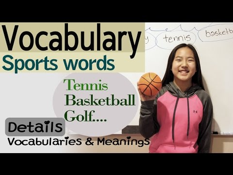 [English Vocabulary- Sports] How to explain the english words /Basketball, Volleyball, Golf..