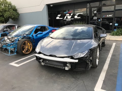 EXOTIC CAR REPAIR AT LNC COLLISION LAMBORGHINI, FERRARI, PORSCHE.
