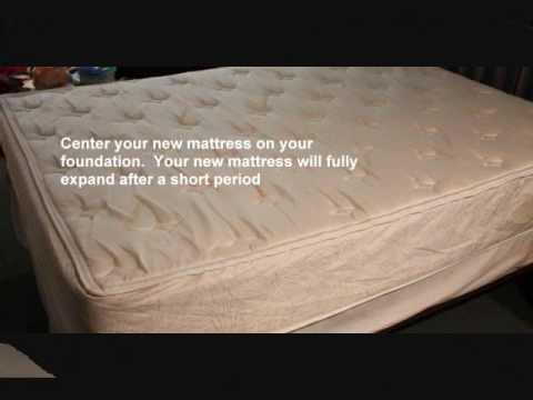 Unpacking Your Memory Foam Mattress Youtube