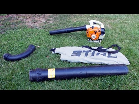 Stihl Sh56c Conversion From Blower To Vac Shredder Plus