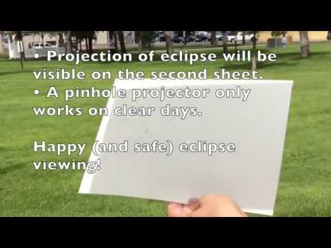 how to make a pinhole projector youtube