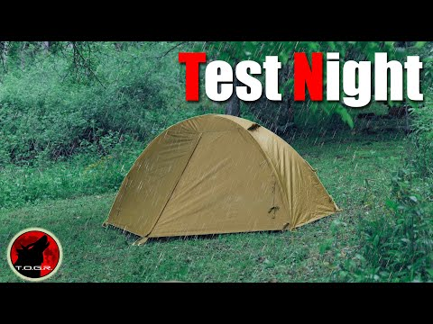 ⚡TEST NIGHT ⚡Kelty Military Field Tent - How Much Rain Can It Handle?