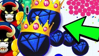THE AGAR.IO REVERSE DOUBLE SPLIT KING! Agar.io DESTROYING NOOBS & PROS