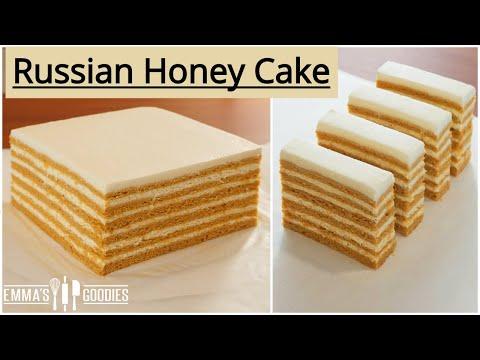Medovik RUSSIAN HONEY CAKE Recipe ( медового торта )