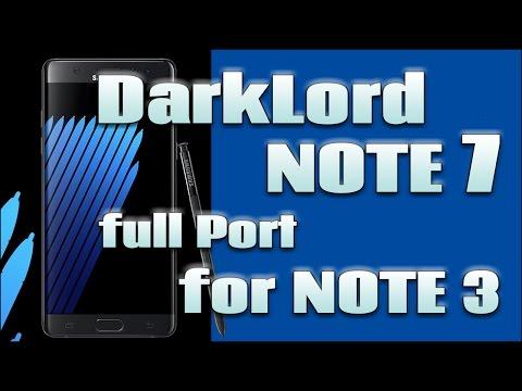 ROM DarkLord Note 7 Full Port For Note 3 [DarkLord N7 ROM V1.0]