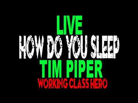 HOW DO YOU SLEEP - Live Performance by Tim Piper as John Len