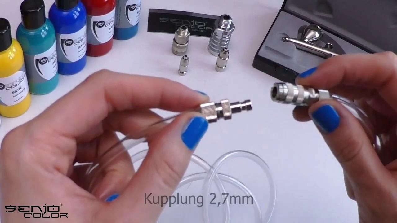 Agora-Tec/® Druckluft Schnellkupplung Stecknippel Adapter auf 1//4 Zoll AG Au/ßengewinde f/ür Werkstatt Kompressor