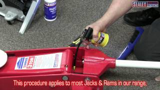 sealey trolley jack oil top up procedure