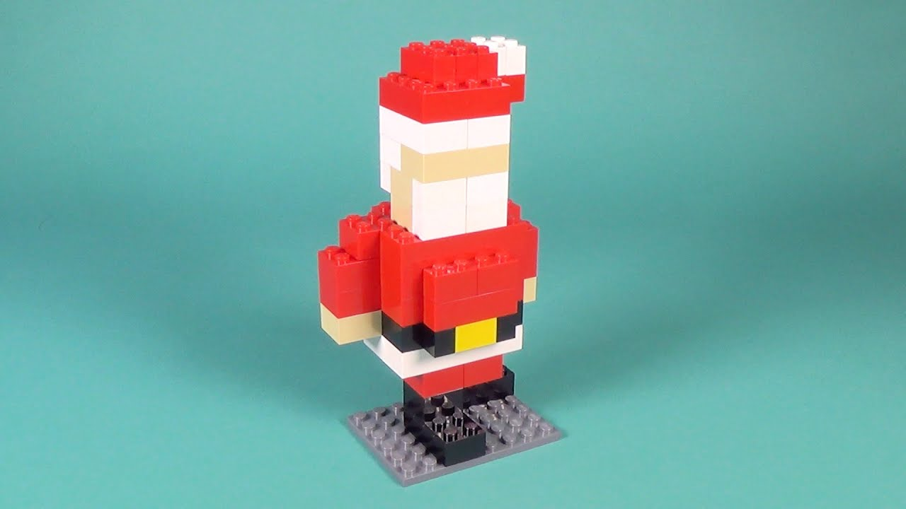 Lego Santa Claus Building Instructions Lego Buildable Brickfigure