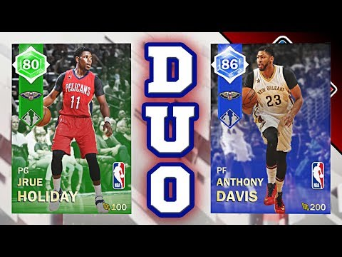 NBA 2K18 MyTEAM Dynamic Duo RATINGS - Emerald Jrue Holiday & Sapphire Anthony Davis