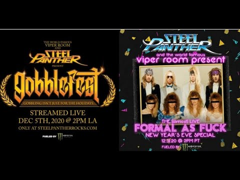 Steel Panther 2 livestream events from The Viper Room w/ Corey Taylor, Fozzy/ Bobby Blotzer