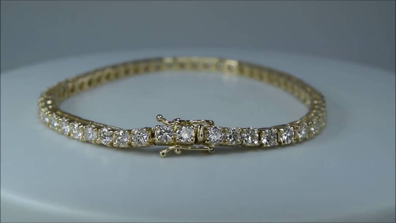 Diamond Tennis Bracelet 14k Yellow Gold 6 24 Ct