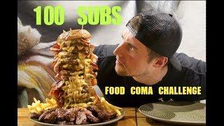 Ginormous 15 PATTY BURGER Challenge   Food Coma 100 Sub Celebration (10,000 Calories)