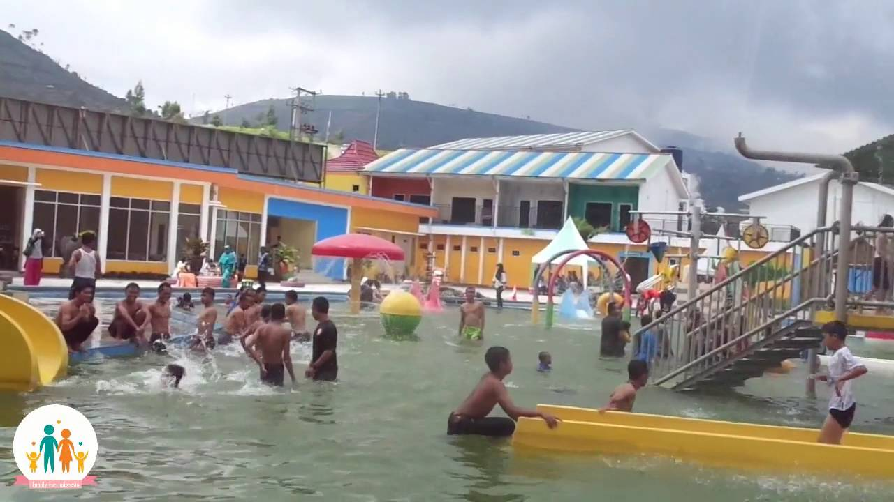 D Qiano Dieng Water Park Hot Spring Awesome Water Park Youtube