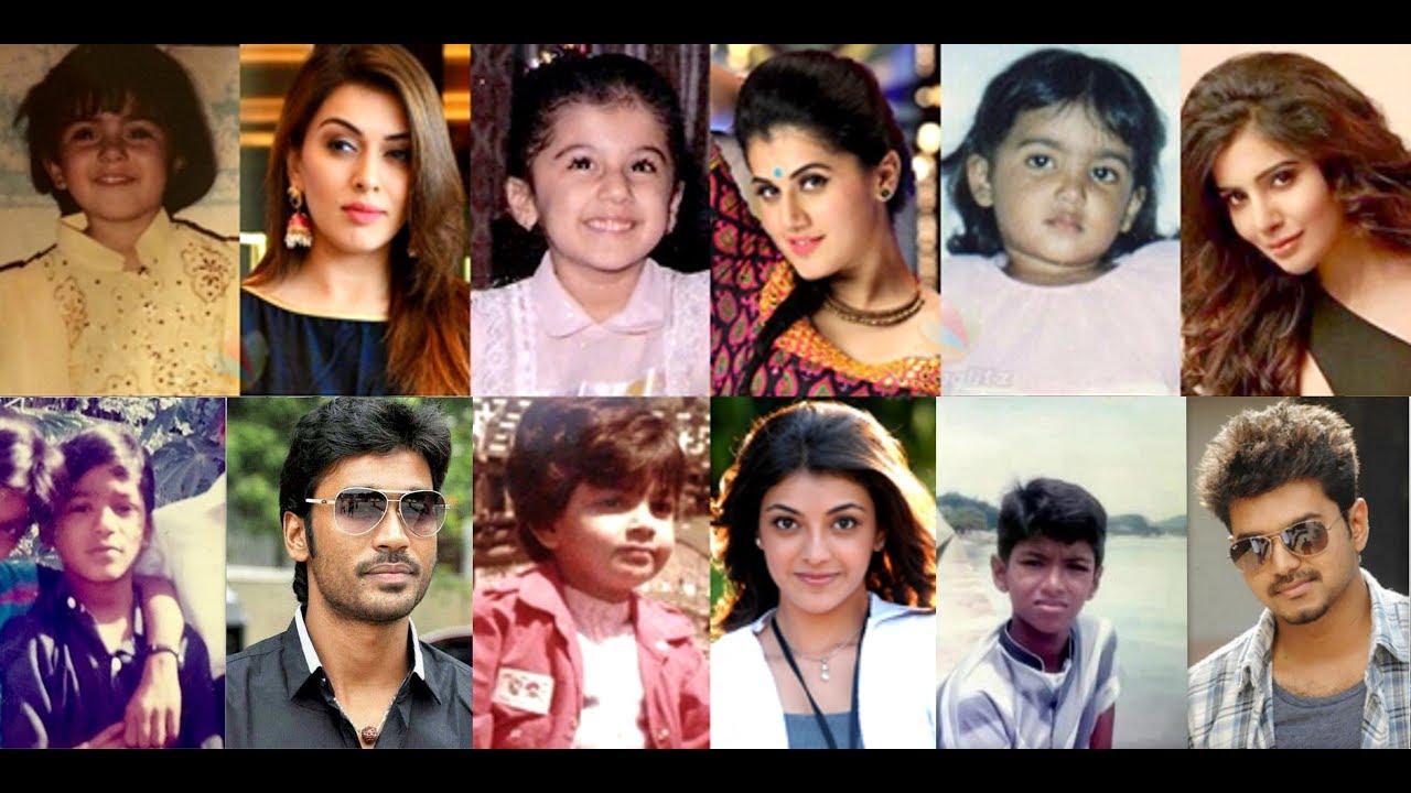 Tamil Actors Actress Childhood Photos