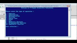 How to program a Scientific Calculator(This is a simple scientific calculator built using the C++ library (cmath) It has 10 basic function and is shown clearly in this video how they are being used ..., 2011-08-26T04:37:09.000Z)