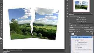 порванная фотография как сделать порванную фотографию фотошоп cs6