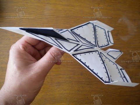 Как сделать оригами супер самолёт