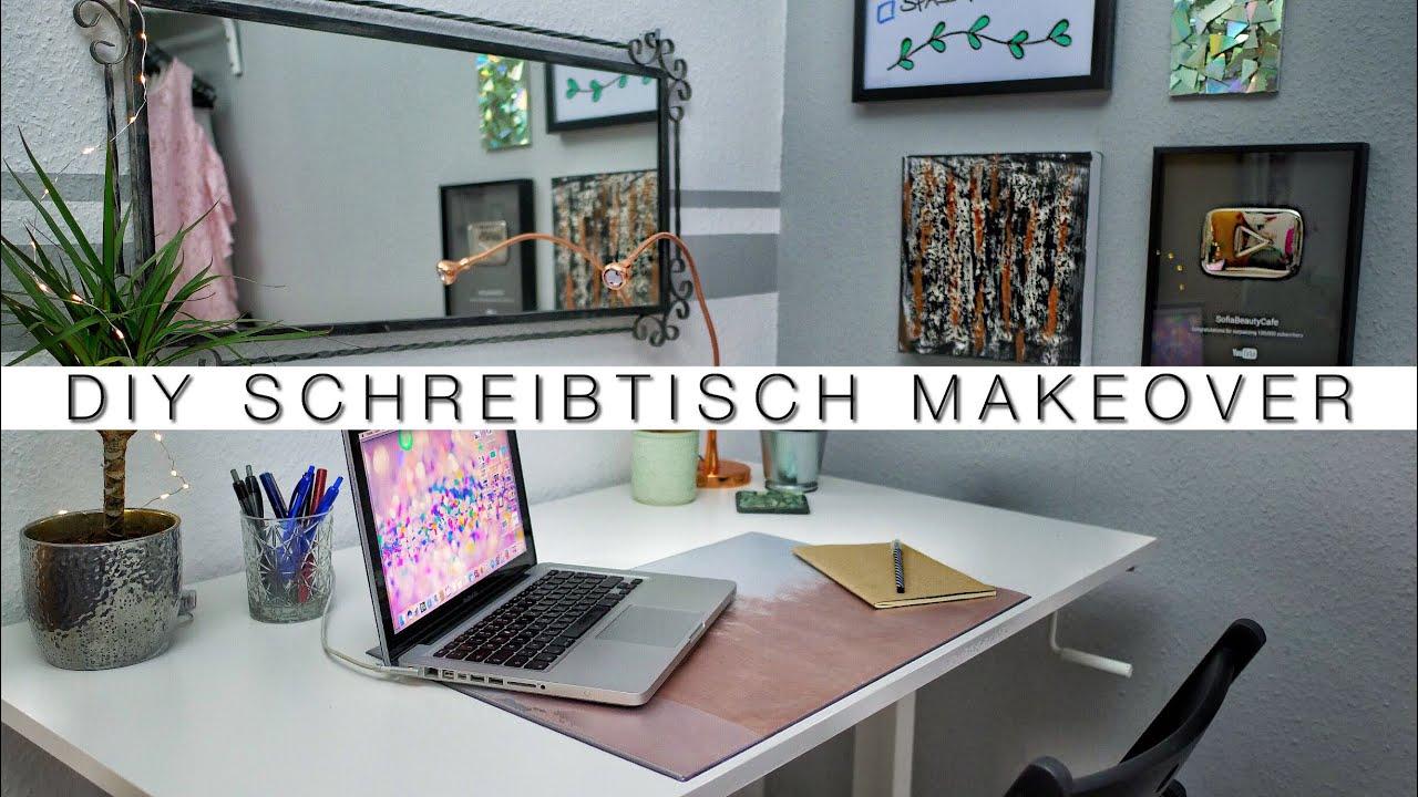 3 einfache diy schreibtisch desktop makeover ideen organisiert f r schule uni arbeit. Black Bedroom Furniture Sets. Home Design Ideas