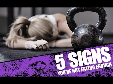 5 Signs You're Not Eating Enough Food (FUEL YOUR WORKOUTS!!)