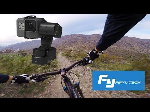 FeiyuTech WG2X Wearable Action Camera Gimbal Test Mountain Biking with GoPro Hero 4