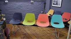 Vintage Retro Office Reception Beam Bench Seating Waiting Room Chairs