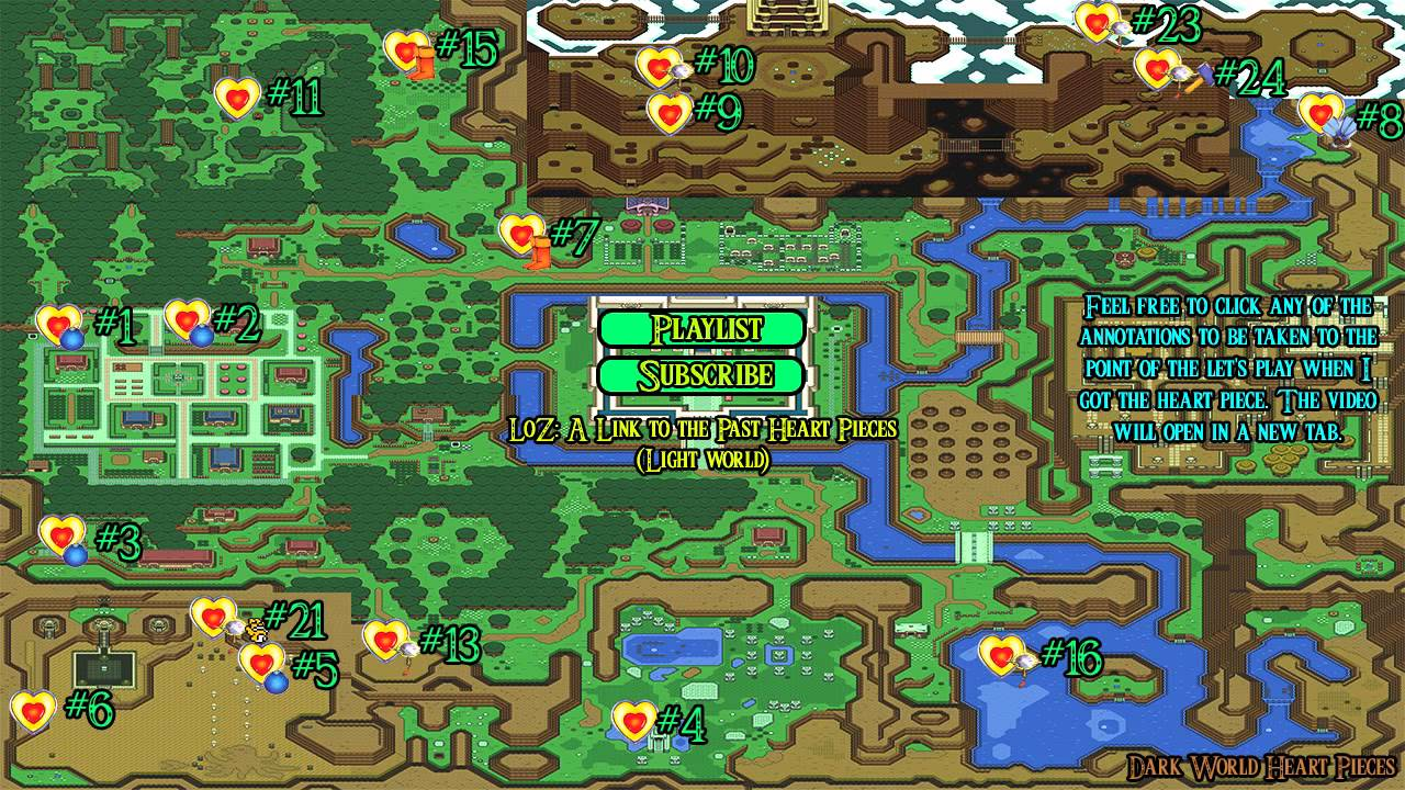 Link To The Past Light World Map.Loz A Link To The Past Light World Heart Pieces Youtube