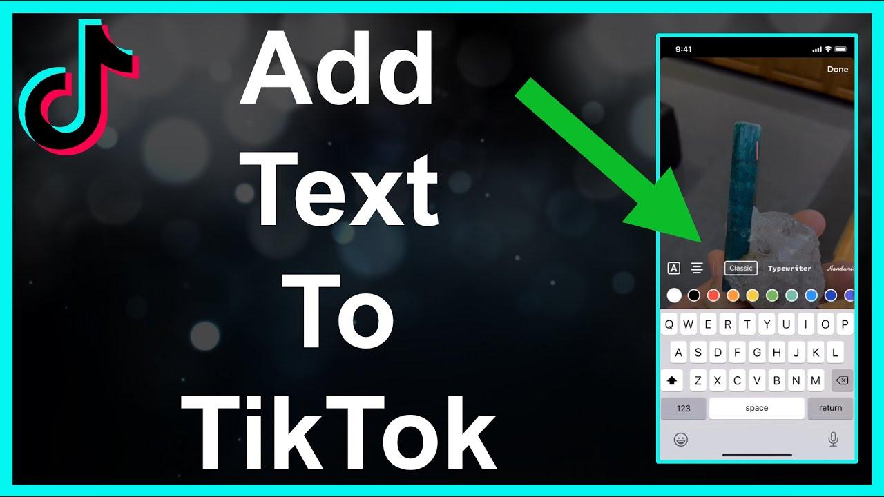 How To Add Text To Tiktok Slideshow Video Youtube