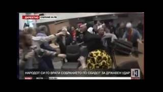 FIGHT IN MACEDONIA PARLIAMENT
