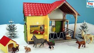 Farm Toys Surprises-SCHLEICH Christmas Animal Fun for Kids!