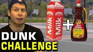 SLAM DUNK CHALLENGE with MILK & SYRUP!