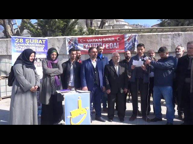 TYB İstanbul Şubesi ve Akademya Dergisi 28 Şubat Mazlumlarına Özgürlük Basın Açıklaması