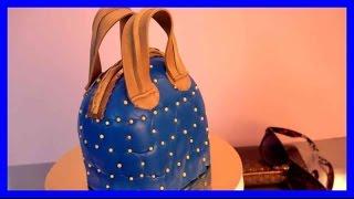 Handtaschen Torten Tutorial - Fondant Torten Tutorial - Fondant handtasche - Kuchenfee
