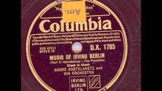 ANDRE KOSTELANETZ AND HIS ORCHESTRA - MUSIC OF IRVING BERLIN PART 2