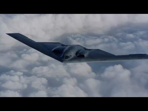 Never-before-seen video of B-2 Stealth Bomber