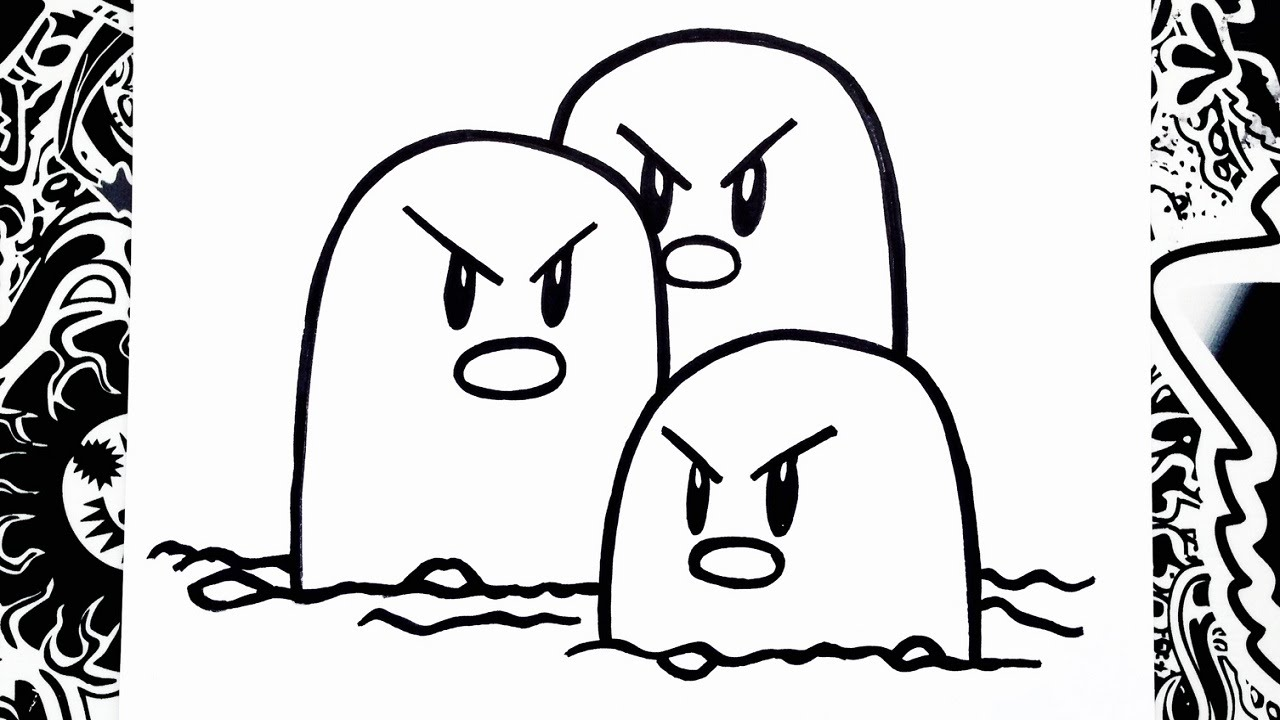 How To Draw Dugtrio - YouTube