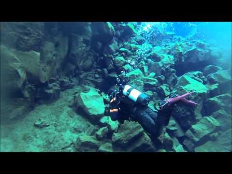 Diving the Silfra, Thingvellir National Park, Iceland 2013